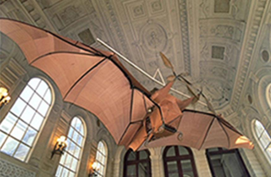 Éole, «Avion» n°3 de Clément Ader, 1897. Don de Clément Ader, restauration par le Musée de l'Air et de l'Espace du Bourget. Exposé au Musée des Arts et Métiers