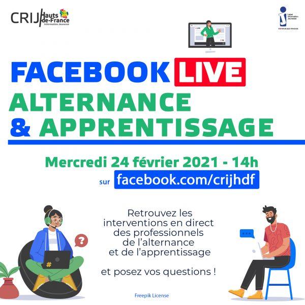 FB Live alternance et apprentissage