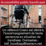 Accessibilité public handicapé au Cnam HdF