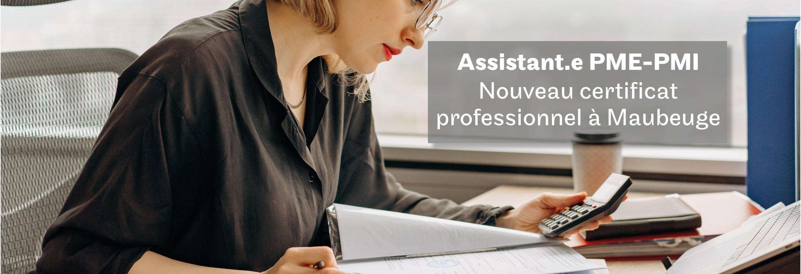 nouveau certificat professionnel Assistant PME PMI avec le Cnam à Maubeuge